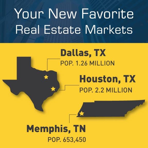real estate investing in Dallas, Memphis & Houston