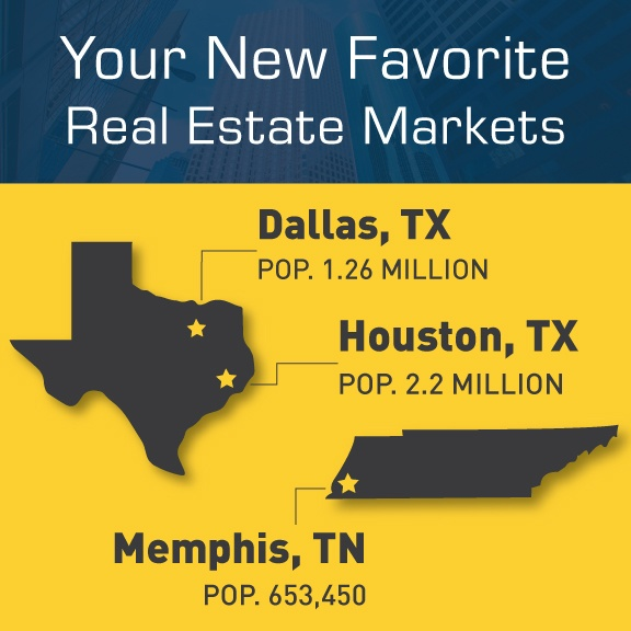 real estate investing in Dallas, Memphis & Houston
